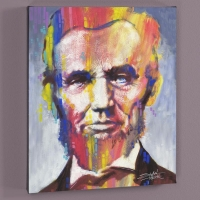 "Stephen Fishwick Signed ""Abe"" LE 16x20 Giclee on Canvas"