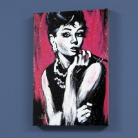 "David Garibaldi Signed ""Audrey Hepburn (Fabulous)"" Limited Edition 12x18 Giclee on Canvas"