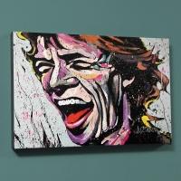 "David Garibaldi Signed ""Mick Jagger"" LE 12x18 Giclee on Canvas"
