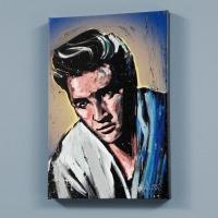 "David Garibaldi Signed ""Elvis Presley (Blue Suede)"" LE 24x30 Giclee on Canvas"