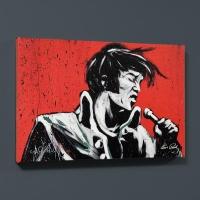 "David Garibaldi Signed ""Elvis Presley (Revolution)"" LE 24x30 Giclee on Canvas"
