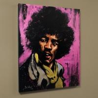 "David Garibaldi Signed ""Jimi Hendrix (Purple Haze)"" LE 28x35 Giclee on Canvas"