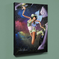 "David Garibaldi Signed ""Tinkerbell"" LE 27x36 Giclee on Canvas"