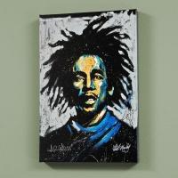 "David Garibaldi Signed ""Bob Marley (Redemption)"" LE 30x40 Giclee on Canvas"