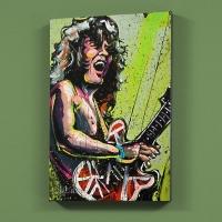 """David Garibaldi Signed """"Eddie Van Halen (Eddie)"""" LE 30x40 Giclee on Canvas"""