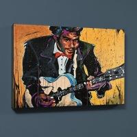 "David Garibaldi Signed ""Chuck Berry (Chuck)"" LE 30x40 Giclee on Canvas"