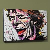 "David Garibaldi Signed ""Mick Jagger"" LE 30x40 Giclee on Canvas"