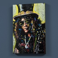 "David Garibaldi Signed ""Slash"" LE 30x40 Giclee on Canvas"