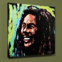 """David Garibaldi Signed """"Bob Marley (Marley)"""" LE 36x36 Giclee on Canvas"""