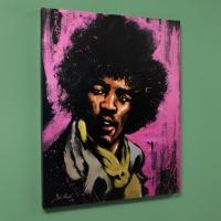"David Garibald Signed ""Jimi Hendrix (Purple Haze)"" Limited Edition 40x50 Giclee on Canvas"