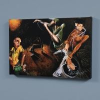 """David Garibaldi Signed """"The Get Down"""" LE 40x60 Giclee on Canvas"""