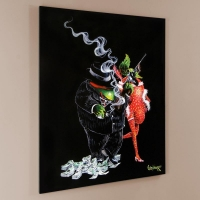 """Michael Godard Signed """"Gangster Love"""" Limited Edition 28x35 Hand-Embellished Giclee on Canvas"""