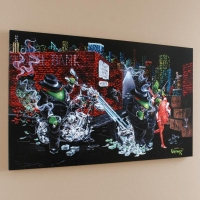 "Michael Godard Signed ""Gangster Chopper"" Limited Edition 42x26 Giclee on Canvas"
