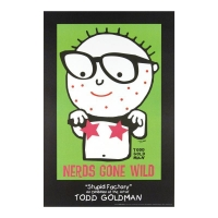 "Todd Goldman Signed ""Nerds Gone Wild"" 24x36 FINE ART Litho Poster at PristineAuction.com"