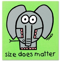 "Todd Goldman Signed ""Size Does Matter"" Limited Edition 8x8 Lithograph at PristineAuction.com"