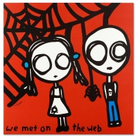 """Todd Goldman Signed """"We Met on the Web"""" Limited Edition 27x27 Lithograph at PristineAuction.com"""