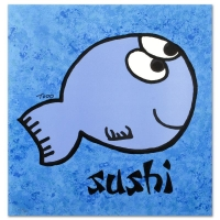 "Todd Goldman Signed ""Sushi"" Limited Edition 21x22 Lithograph"