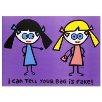 "Todd Goldman ""I Can Tell Your Bag is Fake"" Signed Limited Edition 38x27 Lithograph"