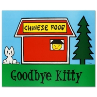 """Todd Goldman Signed """"Goodbye Kitty"""" Limited Edition 30x37 Lithograph at PristineAuction.com"""