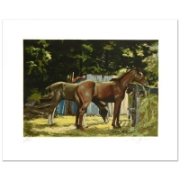"""Harry Schaare Signed """"Feeding Time"""" LE 25x20 Serigraph at PristineAuction.com"""