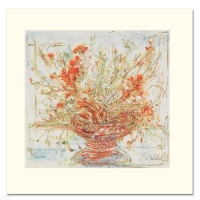 """Edna Hibel Signed """"Summer's End"""" Limited Edition 12x12 Serigraph at PristineAuction.com"""