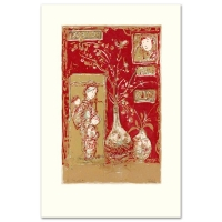"Edna Hibel Signed ""Oriental Delight"" Limited Edition 15x21 Serigraph at PristineAuction.com"
