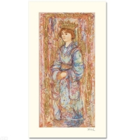 "Edna Hibel Signed ""Book of Hours II"" Limited Edition 11x19 Serigraph at PristineAuction.com"
