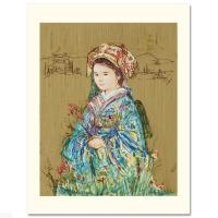 "Edna Hibel Signed ""Festival Kimono"" Limited Edition 15x20 Serigraph (PA LOA)"