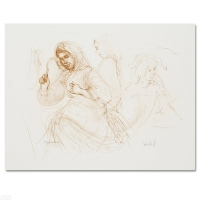 """Edna Hibel Signed """"Three Women in the Fields"""" Limited Edition 15x18 Lithograph at PristineAuction.com"""