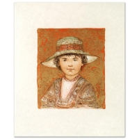 """Edna Hibel Signed """"Jill Ann"""" Limited Edition 18x22 Lithograph at PristineAuction.com"""