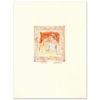 """Edna Hibel Signed """"Romance"""" Limited Edition 20x26 Lithograph (PA LOA) at PristineAuction.com"""