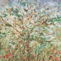 """Edna Hibel Signed """"Tree in Spring"""" Limited Edition 21x30 Serigraph at PristineAuction.com"""