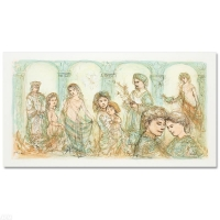 "Edna Hibel Signed ""Solomon's Court"" Limited Edition 24x12 Lithograph at PristineAuction.com"