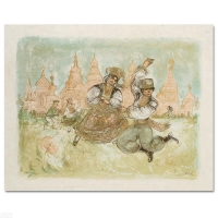 """Edna Hibel """"Russian Dancers"""" Signed Limited Edition 21x17 Lithograph at PristineAuction.com"""