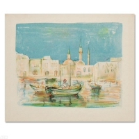 """Edna Hibel Signed """"Akko"""" Limited Edition 20x26 Lithograph at PristineAuction.com"""