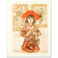 """Edna Hibel """"Wendy the Youngest Docent"""" Signed Limited Edition 14x19 Lithograph at PristineAuction.com"""