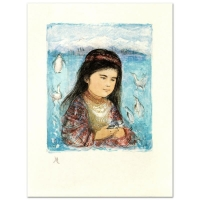 "Edna Hibel Signed ""Aleut Child"" Limited Edition 20x26 Lithograph at PristineAuction.com"