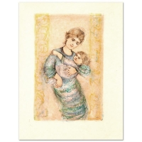 """Edna HIbel Signed """"Fair Alice and Baby"""" Limited Edition 20x26 Lithograph at PristineAuction.com"""