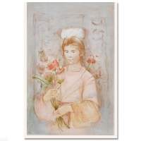 """Edna Hibel Signed """"Mayan Princess"""" Limited Edition 30x41 Lithograph at PristineAuction.com"""
