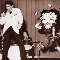 """Starstruck Betty (with Elvis)"" Limited Edition 12x16 Lithograph at PristineAuction.com"
