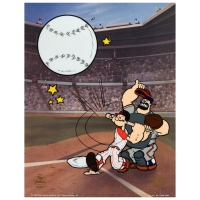 """Homerun Popeye - Reds"" Limited Edition 13x17 Sericel"