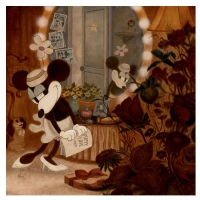 """Mike Kupka Signed """"Minnie's Dressing Room"""" Limited Edition 24x24 Giclee on Canvas (PA LOA)"""
