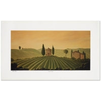 "Steven Lavaggi Signed ""Tuscan Dream"" Limited Edition 16x8 Lithograph"