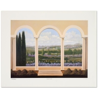 "Steven Lavaggi Signed ""Tranquil Veranda"" Limited Edition 16x12 Lithograph"