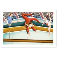 "Yuval Mahler Signed ""Gymnast"" Limited Edition 15x22 Lithograph at PristineAuction.com"