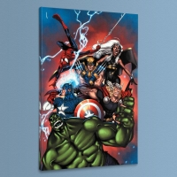 """Marvel Adventures: The Avengers #36"" LE 18x27 Giclee on Canvas by Ig Guara and Marvel Comics"