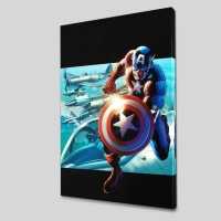 """Captain America: Man Out Of Time #2"" LE 18x27 Giclee on Canvas by Bryan Hitch and Marvel Comics"