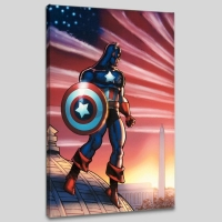 """""""Captain America Theatre of War: America First! #1"""" LE 18x27 Giclee on Canvas by Howard Chaykin and Marvel Comics"""