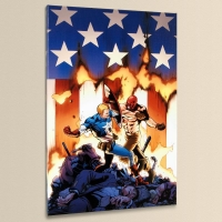 """""""Ultimate Avengers #8"""" Limited Edition 18x27 Giclee on Canvas by Carlos Pacheco and Marvel Comics"""
