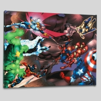 "Tom Grummett & Marvel Comics ""New Thunderbolts #13"" Limited Edition 24x18 Giclee on Canvas"